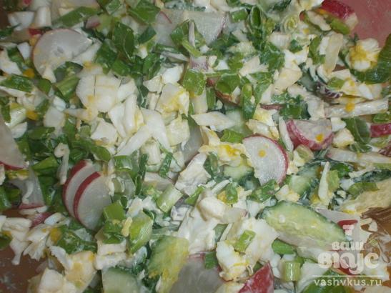 """Салат из белокочанной капусты с яйцом """"Свежая прелесть"""""""