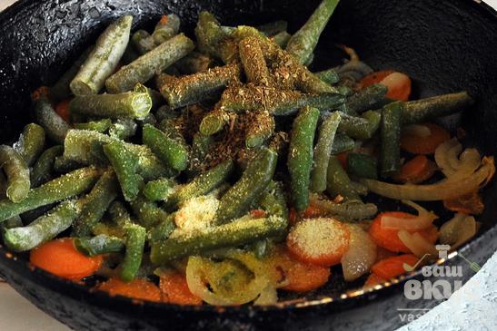 Овощи с лапшой «Доширак»