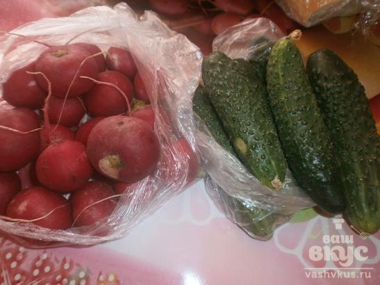 Салат с редиской «Весенний блюз»