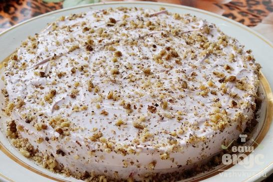 Торт бисквитно - йогуртовый
