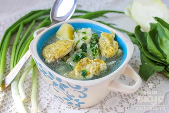 Суп с яичными клецками