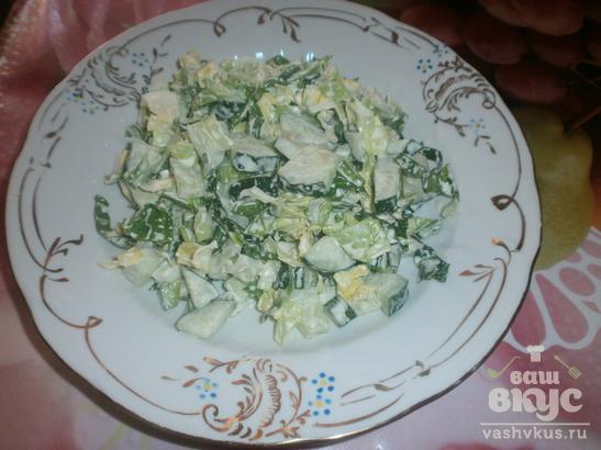 Салат с огурцом и капустой «Весенняя нежность»