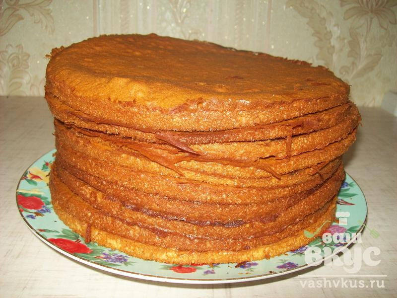 Медовик из жидкого теста (пошаговый фото рецепт) - ВашВкус: http://vashvkus.ru/recipes/miedovik-iz-zhidkogho-tiesta