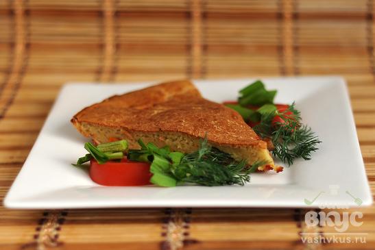 Заливной пирог с овощами