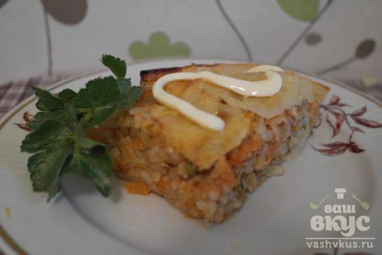 Запеканка с рисом и капустой