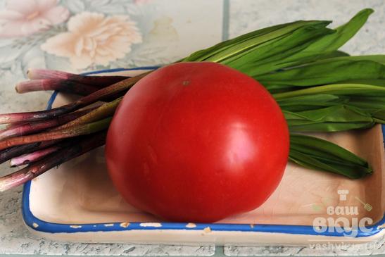 Дрожжевой наливной пирог из тыквы и помидоров