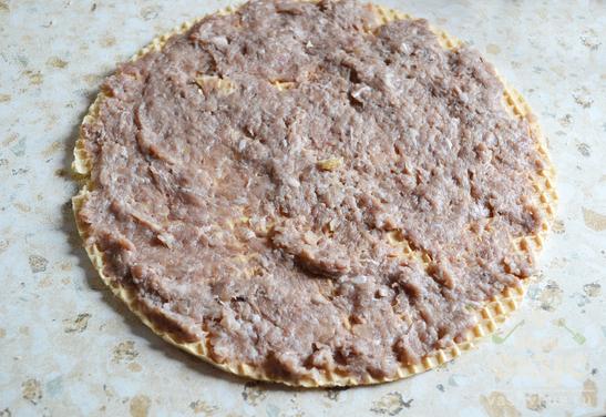 Вафельные коржи с начинкой из фарша рецепты