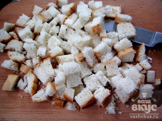 Домашние сухарики с сыром и укропом