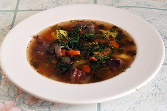 Лапландский суп из оленины