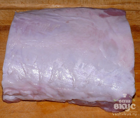 Запечённая свинина с кориандром с рукаве