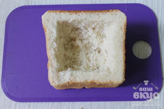 Жульен с грибами в хлебе