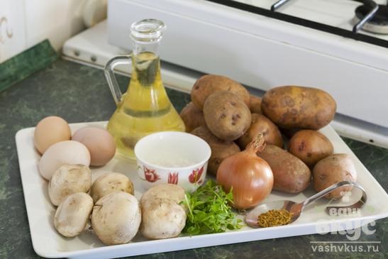 Драники с грибами и луком
