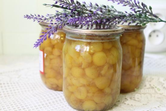 Варенье из белой черешни с лимоном