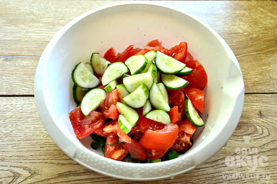 Овощной салат для пикника