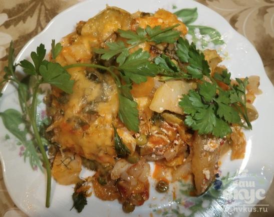 Овощное рагу с сыром в духовке