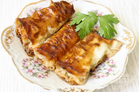 Мясные пирожки из лаваша