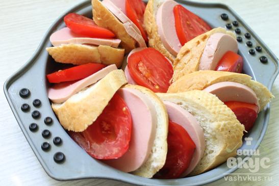 Пирог из горячих бутербродов