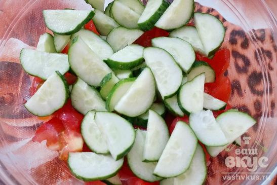 Греческий салат без лука