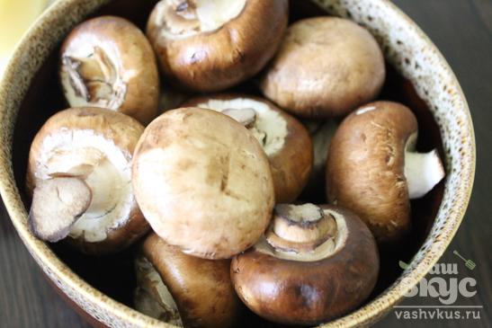 Жареный картофель с королевскими шампиньонами