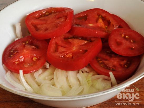 Салат из помидоров с семечками