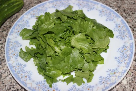 Салат овощной с беконом