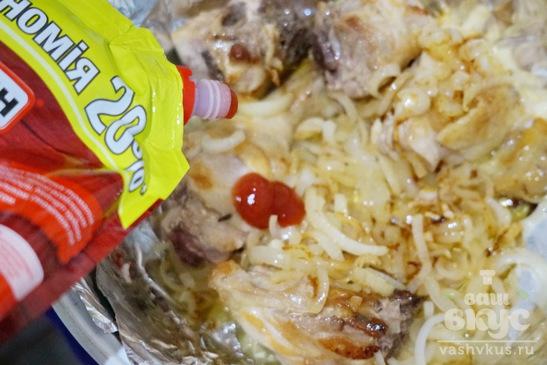 Окорочка запеченные в духовке с кетчупом и соевым соусом