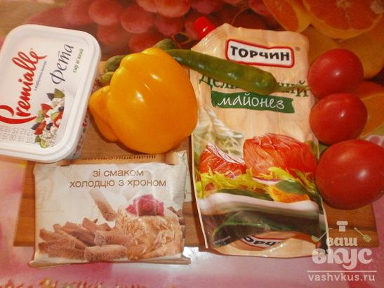 Салат с брынзой и огурцом «Дольче Вита»