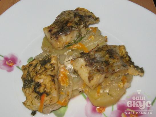 Картошка с рыбой хек в духовке рецепты