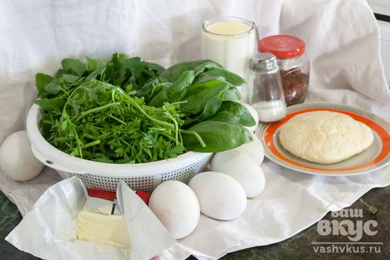 Омлет из гусиных яиц с зеленью и паниром