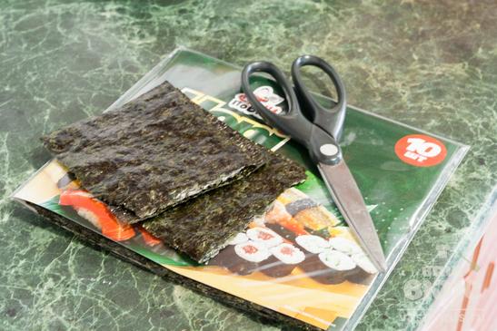 Блины с начинкой суши