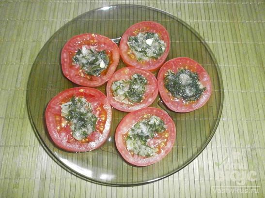 Чесночно - помидорная закуска
