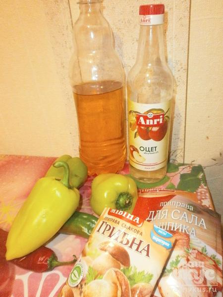 Салат из сладкого и горького перцев