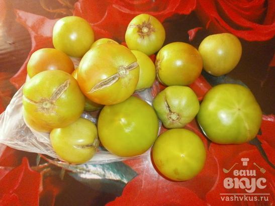 Бурые помидоры по-корейски