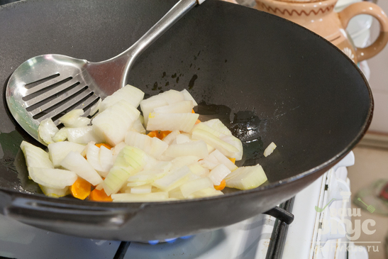 Тушеный картофель с шампиньонами