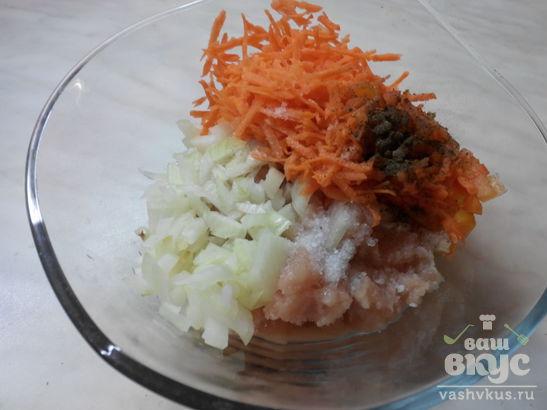 Цветная капуста с фаршем под сметано - соевым соусом