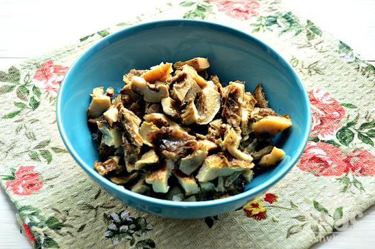 Начинка для пирогов из капусты, риса и грибов