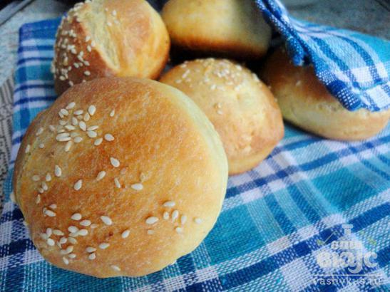 Вкусные булочки для гамбургеров