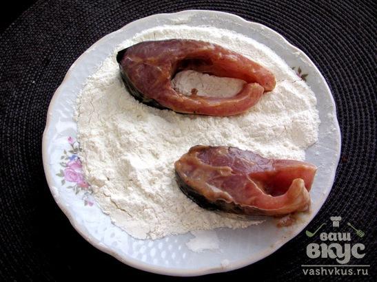 Жареный карп в горчично - томатном маринаде