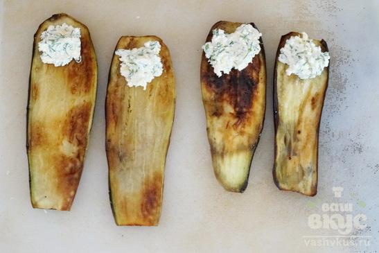 Закуска из баклажанов с сырной массой