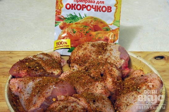 Курятина с овощами в духовке