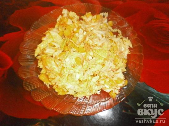 Салат «Оригинальный» с кукурузой и морковью