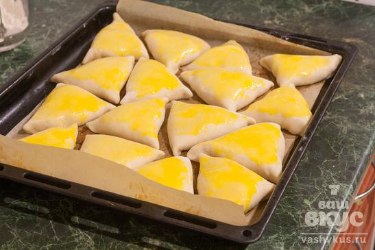 Треугольники со сладкой творожной начинкой