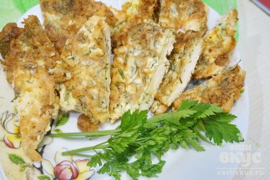 134Куриные отбивные с сыром и шампиньонами в духовке рецепт