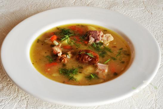Суп гороховый двойной