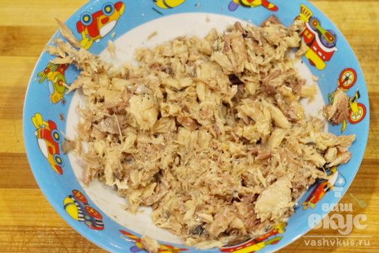 Закуска из лаваша и скумбрии