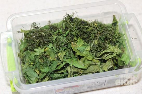 Сушеная зелень