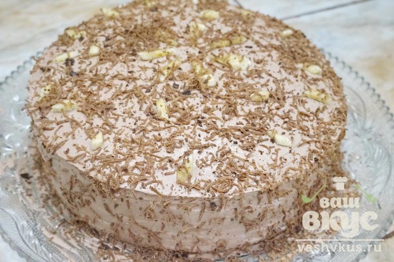 Легкий торт с фруктами в креме рецепт  с фото пошаговый