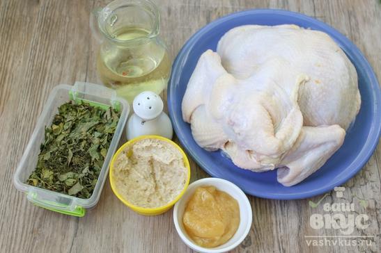 Запеченный цыпленок в духовке