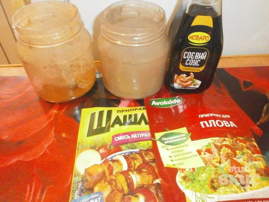 Свинина, жаренная с соевым соусом, перцем и приправами