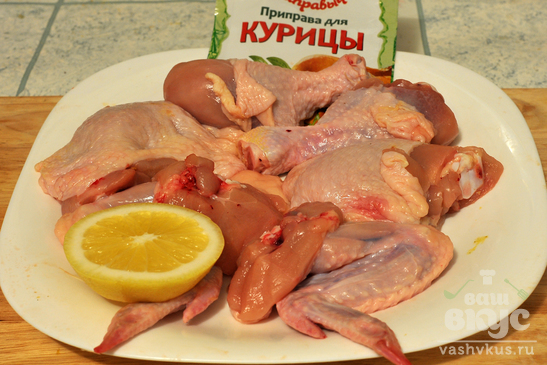 Шашлык из курицы «Новогодний»